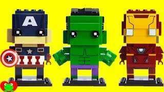 SUPERHERO Avengers LEGO Brickheadz Hulk 41592, Captain America 41589, Iron Man 41590