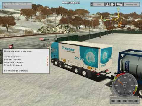 Euro Truck Simulator snow mod with download link