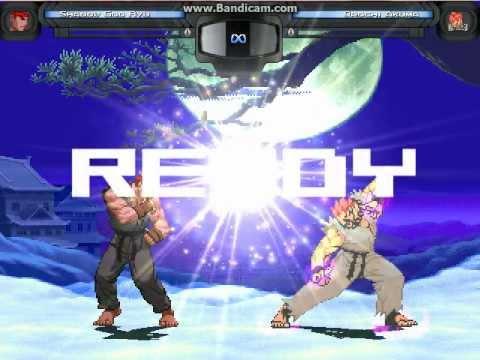 Shadow God Ryu VS. Orochi Akuma