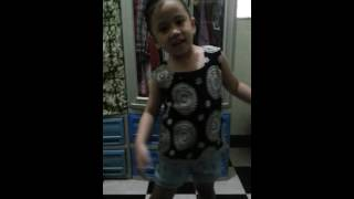 Small cute girl dancing Indian song
