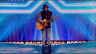 Kevin Davy White Musician from Paris fights for a seat! The X Factor UK 2017