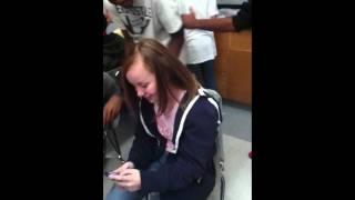 white girl slap
