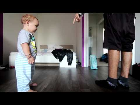▶ Cutest ever, son dancing  Hiphop with his father!