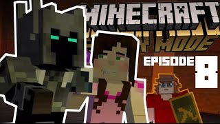 PopularMMOs & GamingWithJen in Minecraft Story Mode Episode 8 w/ GABEN HL2