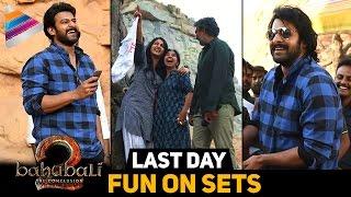 Baahubali 2 Team Last Day FUN ON SETS | Prabhas | Rana | Anushka | Rajamouli | Telugu Filmnagar