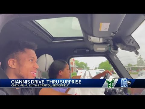 Giannis celebrates NBA Championship with trip to Chick fil A