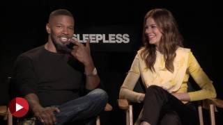 Sleepless - Jamie Foxx and Michelle Monaghan Chipchat Interview