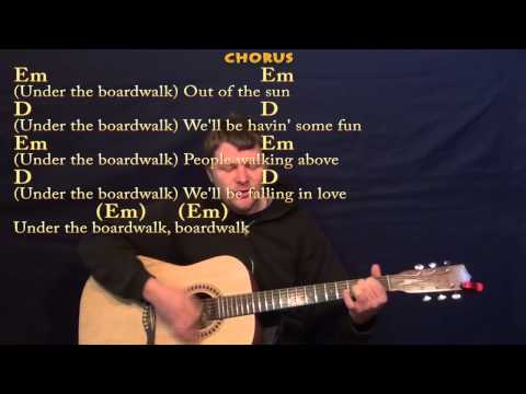 Under the Boardwalk (The Drifters) Guitar Strum Cover Lesson in G with ChordsLyrics