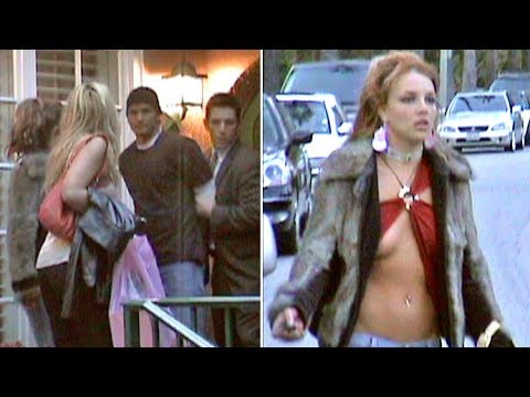 Britney Spears Runs Around In Barely-There Blouse As Brother Bryan Is 'Arrested' [2004]