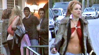 Britney Spears' Boob Pops Out Of Barely-There Blouse As Brother Bryan Is 'Arrested' [2004]