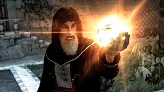 Al Mualim Death: Altair Kills His Mentor Rashid ad-Din Sinan in Masyaf (Assassin's Creed 1 Ending)