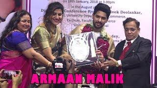 Armaan Malik At Felicitation Ceremony of Honourable University of Mumbai | Bollywood News 2018