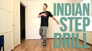 How to Breakdance | Indian Step Drill | Top Rock Basics