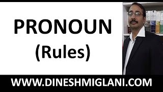 PRONOUN ( ENGLISH GRAMMAR) RULES OF GRAMMAR TO CRACK SSC/COMPETITIVE EXAM