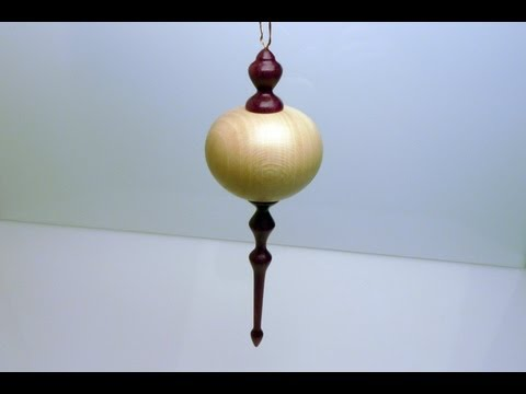 Woodturning Christmas Ornament