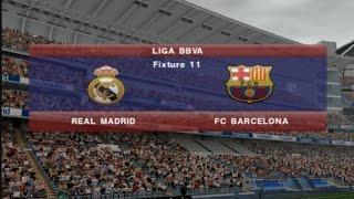 PES 2015 (PS2) Real Madrid vs FC Barcelona - Liga BBVA - Season 2016-2017