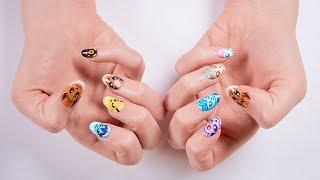Eevee Evolution Nail Art