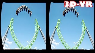 3D Roller Coasters  VR Videos 3D SBS [Google Cardboard VR Experience] VR Box Virtual Reality Video