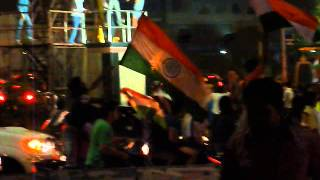 Celebrations in Hyderabad after India winning World cup 2011