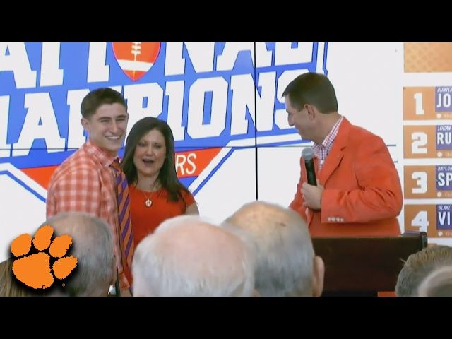 Dabo Swinney Introduces His Son, Will As 2017 Recruit | ACC Must See Moment