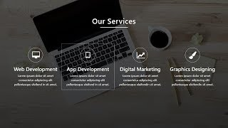 How To Make Website Services Section Using HTML CSS And Bootstrap