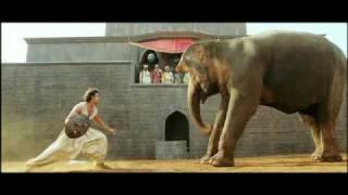 Jodhaa Akbar - Hrithik Roshan controls a wild Elephant HQ