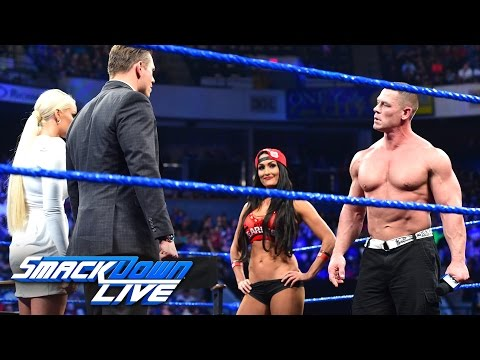 Xxx Mp4 John Cena And Nikki Bella Storm Onto Miz TV SmackDown LIVE March 28 2017 3gp Sex