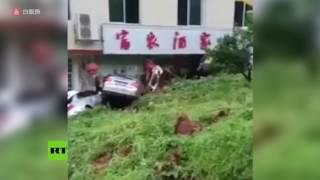 China: Gran deslizamiento de tierra