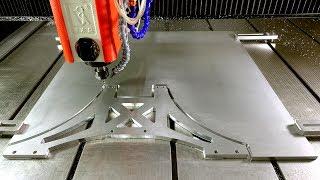 Cnc Router cutting aluminium - Test high speed