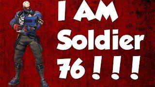 Overwatch Gameplay PS4 | Soldier 76