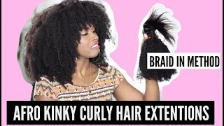 NEW BRAID IN METHOD AFRO KINKY CURLY HAIR EXTENSION FROM COMINGBUY.COM