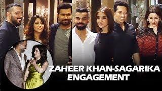 Zaheer Khan & Sagarika Ghatge ENGAGEMENT - FULL HD Video - Virat, Anushka, Yuvraj, Sachin, Rohit