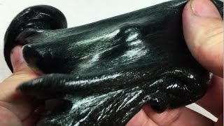 How to Make Black Magic Shiny Squid Ink Venom Slime- Elieoops