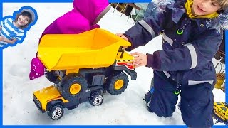 Tonka Tow Truck and Dump Truck from Secret Shed