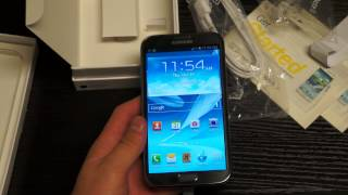 Samsung Galaxy Note II Unboxing and First Impressions
