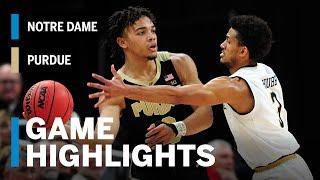 Highlights: Purdue vs. Notre Dame | Big Ten Basketball