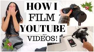 How I film my YouTube videos! | Vlogmas 5