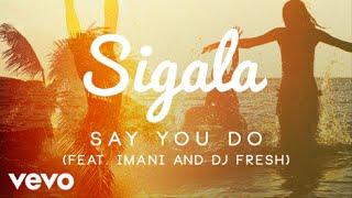 Sigala - Say You Do (Official Audio) ft. Imani Williams, DJ Fresh