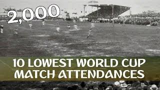 10 Lowest FIFA World Cup Match Attendances