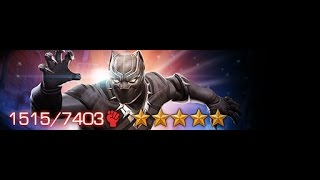 MARVEL : Contest of Champions I GOT A 4* BLACK PANTHER (CIVIL WAR) LEVELING HIM UP PART 3 MUST WATCH