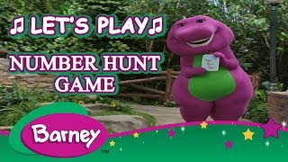Barney 🎈 Play with Barney 🎮 The Number Hunt Game 🎮