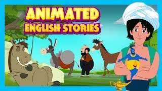Animated English Stories - The Horse and The Donkey, The Lazy Horse and Aladdin