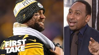 Stephen A. feeling 'real good' after Steelers' victory vs. Patriots   First Take
