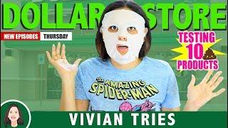 10 WEIRD DOLLAR STORE ITEMS!!!  |  VIVIAN TRIES