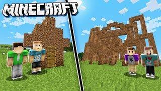 THE PALS NOOBS vs. PRO - DIRT HOUSE! (Minecraft Noob vs. Pro Battle)