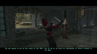 KOTOR II: The Sith Lords Restored Content - The council and Darth Traya