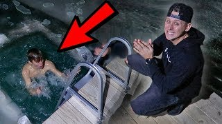 DIVING INTO ROMAN ATWOOD'S ICE POND! *freezing*