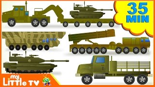 Learn Army Trucks   Tanks   Submarine   Transport Vehicles for Children   Kids Videos