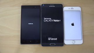 Windows 10 vs. Android 5.0 Lollipop vs. iOS 8.3 - Which Is Faster? (4K)