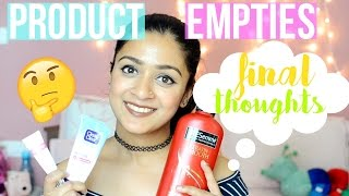 PRODUCT EMPTIES| WILL I REPURCHASE THEM?? | MegDIY